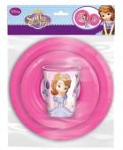 Conjunto Refeição plástico Princesa Sofia