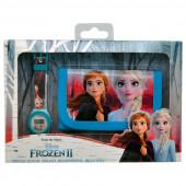 Conjunto Relógio Digital + Carteira Frozen 2