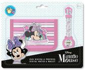 Conjunto Relógio Digital + Carteira Minnie Disney
