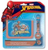 Conjunto Relógio Digital + Carteira Spiderman Homem Aranha