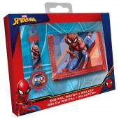 Conjunto Relógio Digital + Carteira Spiderman Marvel