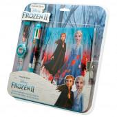 Conjunto Relógio Digital + Diário + Caneta Frozen 2