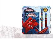 Conjunto Relógio Digital + Diário + Caneta Spiderman