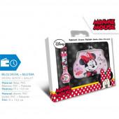 Conjunto Relógio Digital + Porta Moedas Minnie Disney