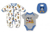 Conjunto Roupa Bebé Mickey Azul