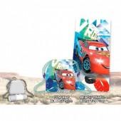 Conjunto saco + toalha praia Disney Cars Vroom!