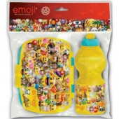 Conjunto sanduicheira + garrafa Emoji
