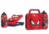 Conjunto Spiderman Sanduicheira 3D + garrafa