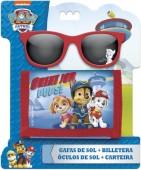 Conjunto vermelho óculos + carteira Patrulha Pata