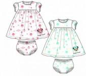 Conjunto vestido+ cueca para bebé de Minnie Mouse