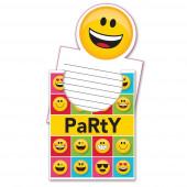 Convites Festa Emojis 8 unid