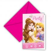 Convites Festa Princesas Disney 6 unid