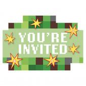 Convites Minecraft - 8 Und