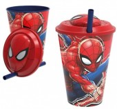 Copo 3D com palhinha de Spiderman