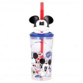Copo 3D com palhinha Mickey Disney
