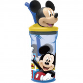 Copo Azul c/ fig. 3D Mickey Mouse
