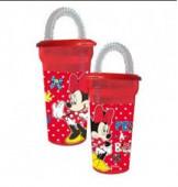 Copo c/ palhinha Disney Minnie Peek a Bow 450ml
