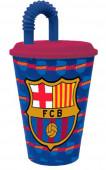 Copo c/ palhinha do FC Barcelona 430ml