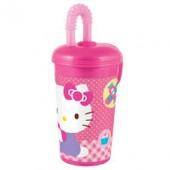 Copo c/ Palhinha Hello Kitty