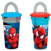 Copo c/palhinha Spiderman