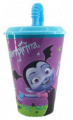 Copo c/ tampa palhinha Vampirina Disney 430ml