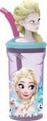 Copo com figura 3D de Elsa Frozen - Floral