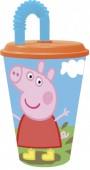 Copo com palhinha da Peppa Pig 430ml