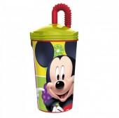 Copo com palhinha do Mickey