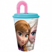 Copo com palhinha Frozen Disney 430ml