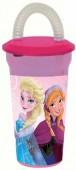 Copo com palhinha Frozen Disney 450ml