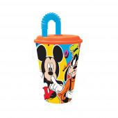 Copo com Palhinha Mickey Disney 430ml
