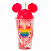 Copo com Palhinha Mickey Rainbow