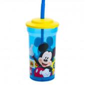 Copo com palhinha Mickey