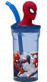 Copo com palhinha Spiderman 3D