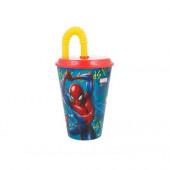 Copo com Palhinha Spiderman 430ml