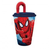 Copo com Palhinha Spiderman Marvel 430ml