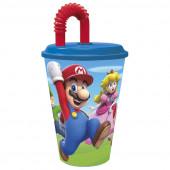 Copo com Palhinha Super Mario 430ml