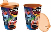 Copo com tampa 430ml Carros - Racing Power