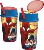 Copo dupla função Marvel Spiderman