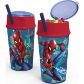 Copo Dupla Função Spiderman Marvel