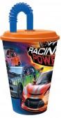Copo Palhinha carros 430ml - Racing Power