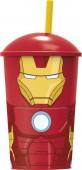 Copo palinha Avengers Iron Man