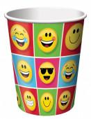 Copo papel Emojis 8 unid