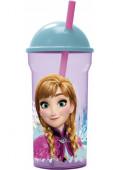Copo Plástico com Palhinha Frozen