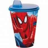 Copo plástico infantil Spiderman Marvel