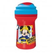 Copo Premium com tampa 310ml Mickey - To The Rescue
