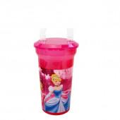 Copo Princesas Disney com Palhinha