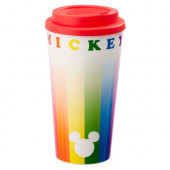 Copo Viagem Mickey Rainbow