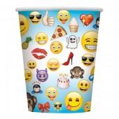 Copos Emoji 270ml - 8 Und