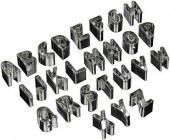 Cortadores Mini Alfabeto 26 peças